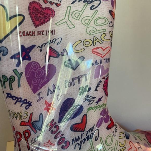 Coach rain boots. Size 11. Never been worn.